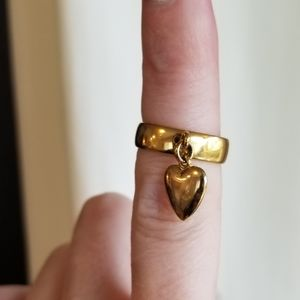 Vintage Napier Heart Dangle Ring